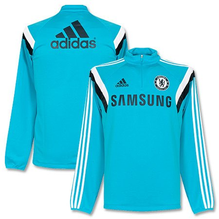 adidas 2014 - 15 Chelsea Training Top (Blue) Gr. L, blau - Adidas Chelsea Trainings Trikot