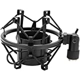 Black Metal Microphone Stand Microphone Shock Mount with Screws