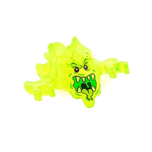 1 x Lego System Figur Geist Ninjago Skreemer Kopf Maske transparent neon grün offener Mund Mini Figuren Set 70738 19861pb02