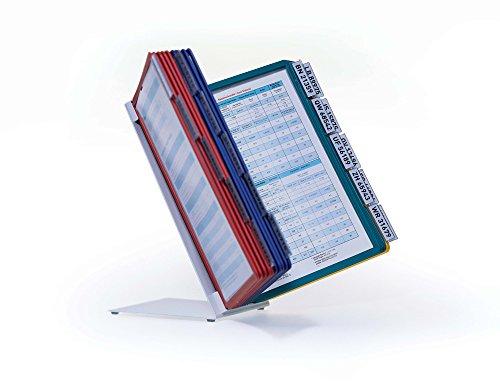 Durable 569900 Tisch-Sichttafelsystem (Vario Table 20, mit 20 Sichttafeln) mehrfarbig