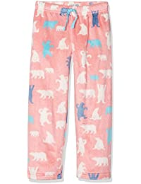Hatley Lbh Kids Fuzzy Fleece Pants-Pink Bear, Bas de Pyjama Fille
