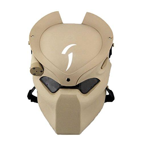 haoyk Halloween Tactical Softair Maske mit Metall Mesh Augen Schutz f�r Party Kost�m Infrarot-Lampe, DE