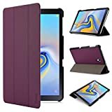 iHarbort Samsung Galaxy Tab A 10.5 Hülle Cover (2018 Version SM-T590 / T595) - Ultra dünn Hülle Etui Schutzhülle Holder Stand mit Smart Auto Wake/Sleep Funktion, lila