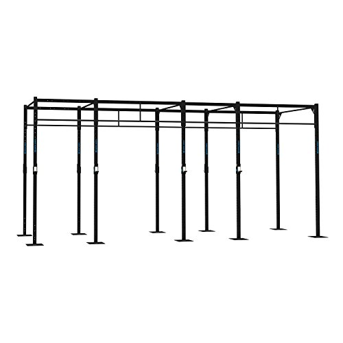 CAPITAL SPORTS Dominate R 580.179 Basis Power Rack Gym Rig Cross-Training Functional Kraftstationen Kniebeuge Double-Bar Klimmzug-Stange 580 x 270 x 179 cm (J-Cups 12 x Pull-Up Station 4 x Squat Station) Stahl schwarz