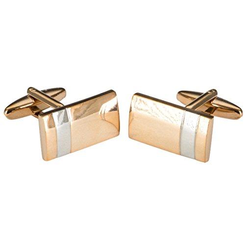 LINDENMANN Manschettenknöpfe, Rose-Gold, poliert, rechteckig, Geschenketui, 10670