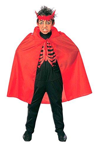 Umhang Roter Kostüm Ideen (Widmann 3581R, Roter Umhang für Kinder von ca. 6 - 12 Jahre, Länge 90 cm zu Halloween oder)