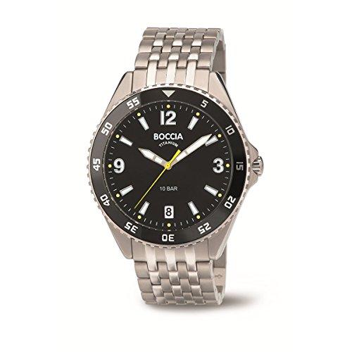 Boccia Herren-Armbanduhr 3599-03