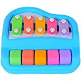 FunBlast® 2 In 1 Musical Xylophone And Piano Toys For Kids Instrument For Babies, Toddlers And Preschoolers With Two Mallets (Random Color)