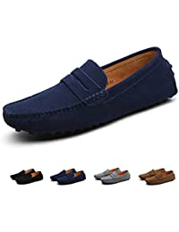 e3b25b4fc74 ZIITOP Men s Loafer Flats Casual Slip On Moccasins Trainers Handmade Driving  Shoes Suede Leather Boat Shoes