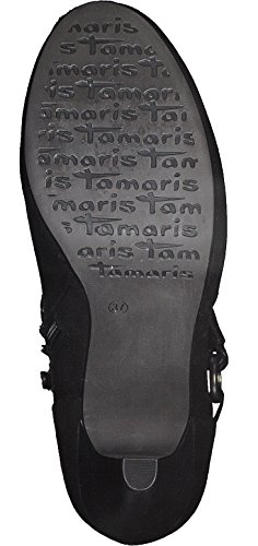 Tamaris Schuhe 1-1-25904-28 bequeme Damen Stiefel, Boots, Sommerschuhe für modebewusste Frau,, Tamaris Trend Black