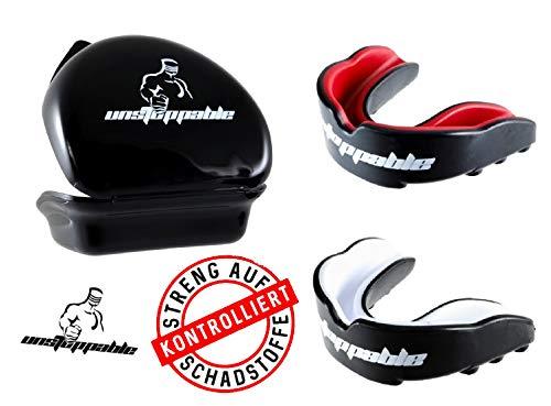 Unstoppable Mundschutz/Zahnschutz | BPA Frei | Perfekter Halt | Schützt Zähne & Zahnfleisch | inkl. praktischer Box & Anleitung