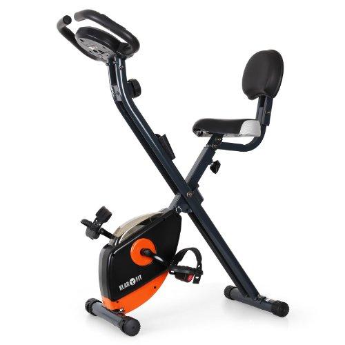Klarfit X-Bike 700 Ergometer Heimtrainer für Ausdauertraining (faltbar, 8-stufiger Widerstand, bis 100kg, Trainingscomputer, verstellbarer Sattel, Pulsmesser) orange, blau oder gelb