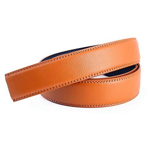 Sunonip Cinturón Automático Para Hombre Sin Hebilla Cinturón De Cuero Amarillo Rojo Blanco,S1,110Cm