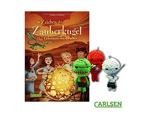 Carlsen Im Zeichen der Zauberkugel 4: Das Geheimnis des Drachen (Gebundenes Buch) + 1. Coole Voodoo Puppe