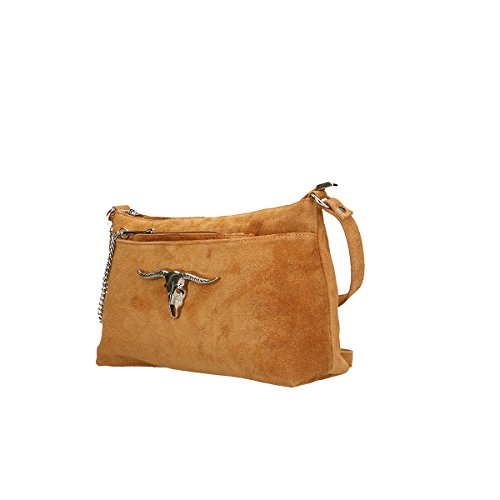 Chicca Borse Borsa a tracolla in pelle 29x17x8 100% Genuine Leather Cuoio