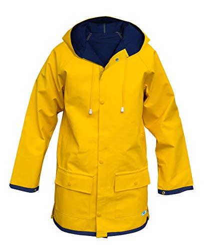 MADSea Damen Herren Friesennerz Regenjacke gelb wasserabweisend, Größe:Damen 42 = Herren 48