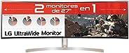 """LG 49WL95C-W - Monitor Profesional de 49"""" DualQHD (5120x1440, IPS, 32:9, DisplayPort x1, HDMI x2, USB x4,"""