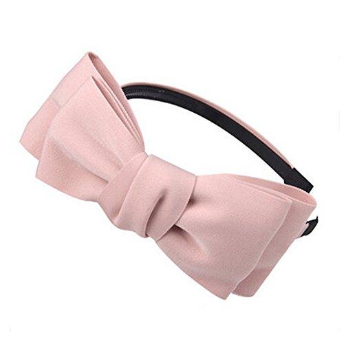 Filles bowknot Mignon Artesanat Band cheveux Accessoire Bandeau cheveux, Rose
