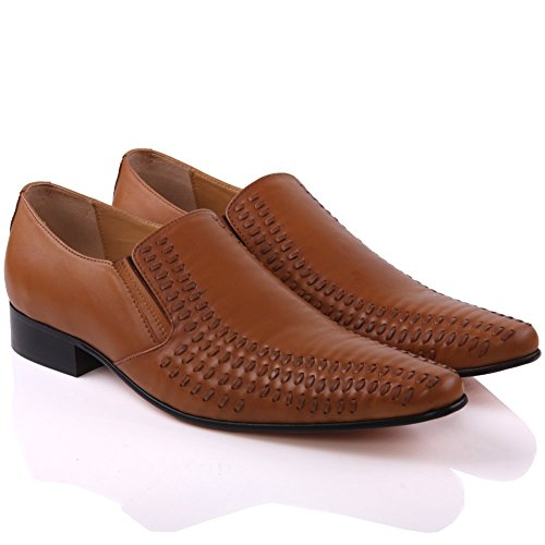 Unze Für Männer Martens 'Leder Elegante Schuhe - G00505 Bräune
