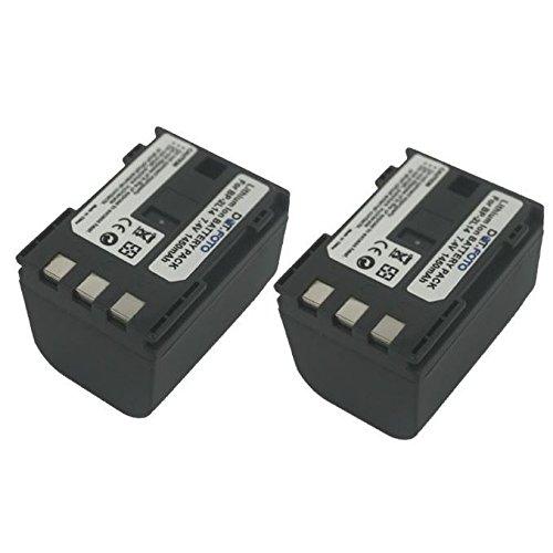 2 x Dot.Foto Batterie de qualité pour Canon BP-2L12, BP-2L13, BP-2L14 - 7,4v / 1450mAh - Entièrement 100% compatibles - garantie de 2 ans [Pour la compatibilité voir la description]
