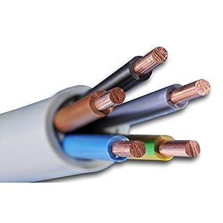 NYM-J 5x4 mm² - NYM-J 5x4 mm2 - Mantelleitung - Installationsleitung - grau - Auswahl in 5 Meter Schritten - Beispiel: 10 m - 20 m - 25 m - 30 m - 35 m - 40 m - 45 m - 50 m