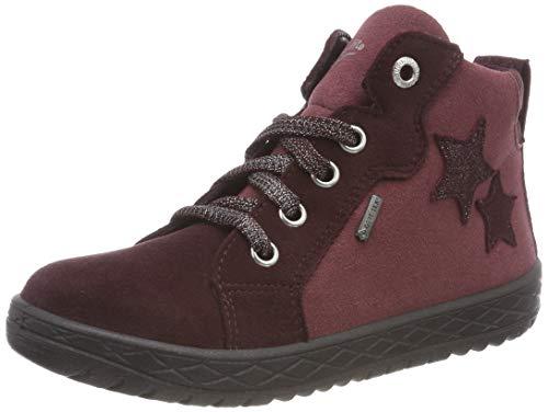 Superfit Mädchen Mercury Hohe Sneaker, Rot 50, 30 EU (Kinder Schuhe Rot-glitzernden)