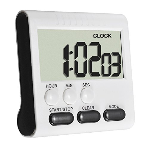 Beetrie Kitchen Timer Alarm Magnetic Large LCD Digital
