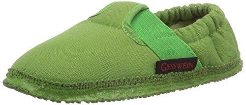 Giesswein Aichach - Pantofole a collo basso Unisex Bambini, Verde (Gras), 29 EU