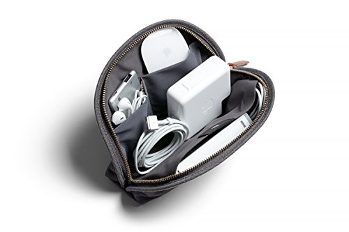 Bellroy Classic Pouch, Mäppchen, Stiftemappe, Tasche, Leder und Stoff (für Stifte, Kabel, Kosmetik, Scheren, Kopfhörer, Radiergummis) Mid Grey -