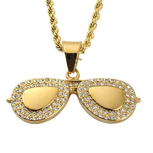 HAOYU Persönlichkeit Flut Marke Sonnenbrille Sonnenbrille Brille Halskette Anhänger Flut Männer und Frauen