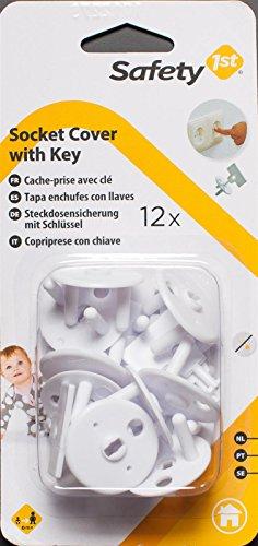 Kindersicherung 12x Steckdosensicherung mit Schlüssel für europäische Steckdosen