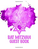 Bar Mitzvah Guest book: Purple Bar Mitzvah Guestbook Celebrate Coming of Age Party for Jewish Boy Birthday PLUS Gift Log and memory thoughts Tracker