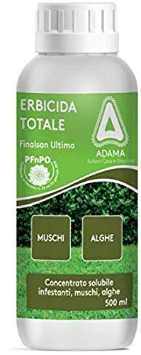 finalsan ultima erbicida totale acido pelargonico contro erbe infestanti, muschi e alghe pfnpo 500 ml
