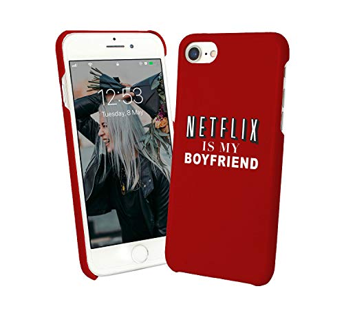 LumaCases Netflix is My Boyfriend TV Series and Chill Eat Food Love Relationship_000996 Case for Compatible with iPhone XR Handyhulle Hülle SchutzCover Bumper Shell Protective Protection Chill Food