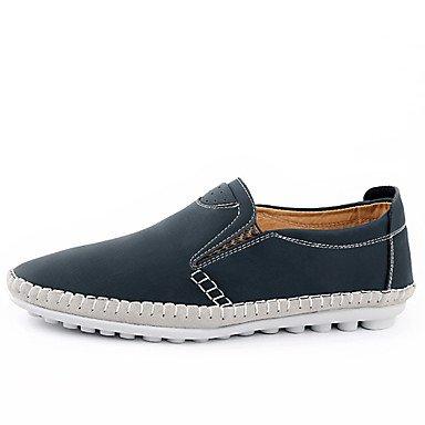 Chaussures d'hommes et de l'emploi de bureau/Trotteurs en cuir décontracté bleu/marron/jaune Yellow