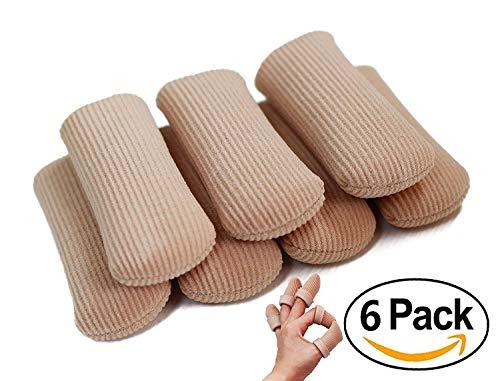 ERGOfoot Finger Zehenschutz Rohre Offene Kappe 6 PCS-Zehenschutz Gel-Reibe-Tube zur Verhinderung von Hühnern, Hornhaut, Hornhaut, Blasen -