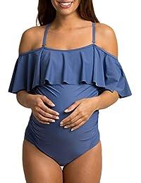 Lolittas 2 Pcs Tankinis De Maternit/é Femmes Bikinis Imprim/é Floral Maillot De Bain Maillot De Bain Costume Enceinte,Maillot De Bain Femme Enceinte