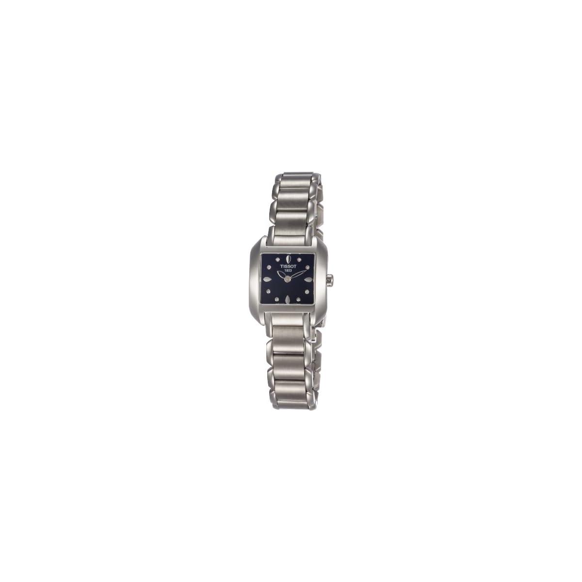 41VoJAMAl7L. SS1200  - Tissot T-Wave T02128554 - Reloj de Mujer de Cuarzo, Correa de Acero Inoxidable Color Gris