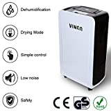 VINGO® Dehumidifier 12L/24h Can Attain 120 m³ (~50 m²) Clothes Dryer,Electric Air Purifying,24h-Timer,Auto