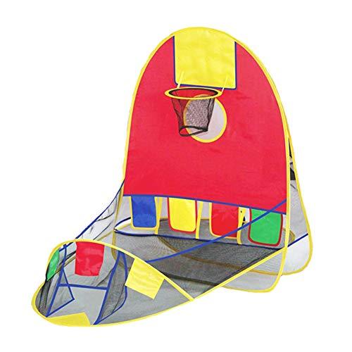 PRNGZGG Spielzelt Zelt Jungs Kleinkinder Spielhaus Für Innen Und Außen, Tragbares Pop-Up Indianerzelt Geschenk Für Kinder Faltbares Spielhaus Im Freien Innenschießzelt