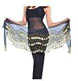 #9: Baby and Blossoms Belly Dance Hip Skirt Scarf Wrap Belt Hipscarf with 158 gold coins