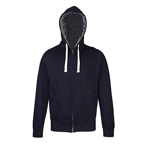 AWDis Hoods da uomo Zip full pelliccia zoodie Giacca con cappuccio Top New French Navy XL-petto 122 cm