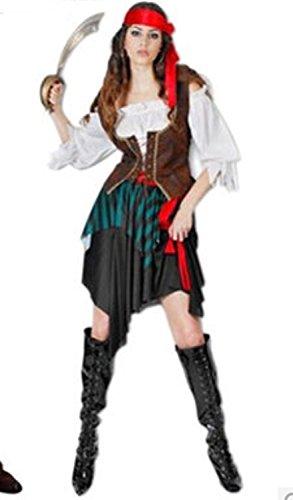Stimmung! Caribbean Pirate, Pirates of the Caribbean-Kostüm Halloween für Damen (woman) (Womens Pirate Kostüm)