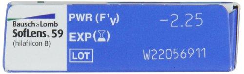 Soflens 59 Monatslinsen weich, 6 Stück / BC 8.6 mm / DIA 14.2 / -2,25 Dioptrien - 2