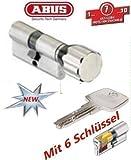 ABUS EC550 Profil-Knaufzylinder Länge Z45/K35mm mit 6 Schlüssel