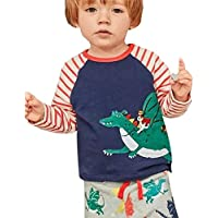 Doing1 Baby Kinder Mädchen Jungen Tier Drucken Print Cartoon Streifen Langarmshirts Tops + Hosen Outfits Kleidung... preisvergleich bei billige-tabletten.eu