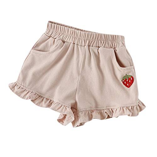 Julhold Sommer Kinder Kinder Baby Mädchen Mode Candy Farbe Baumwolle Lotusblatt Shorts Elastische Taille Hosen 1-6 Jahre