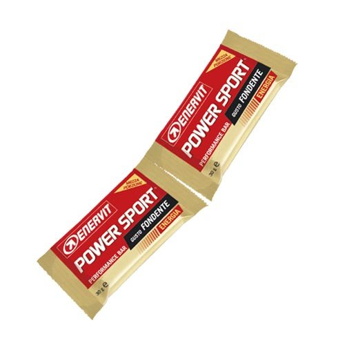 Enervit power sport double dark barretta energetica gusto fondente, box 28 pezzi da 2 bar da 30 g