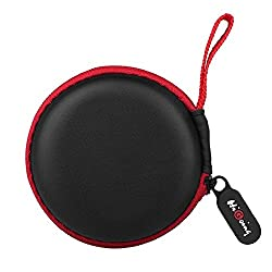 Earbud Case, Higoing Mini Earphone Case Pouch Hard Protective Carrying Earbuds Case Travel Portable Storage Bag For Headphones Headset Mp3 - Red