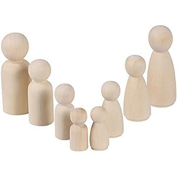 Figuren Holzfiguren 8 Stücke Familie Diy Holzfiguren Figurenkegel